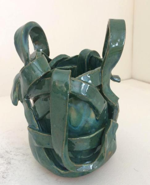 Green vessel with handles